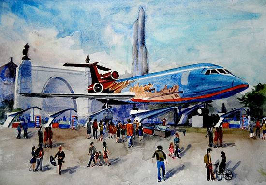Арт-галерея Самолёт на ВВЦ